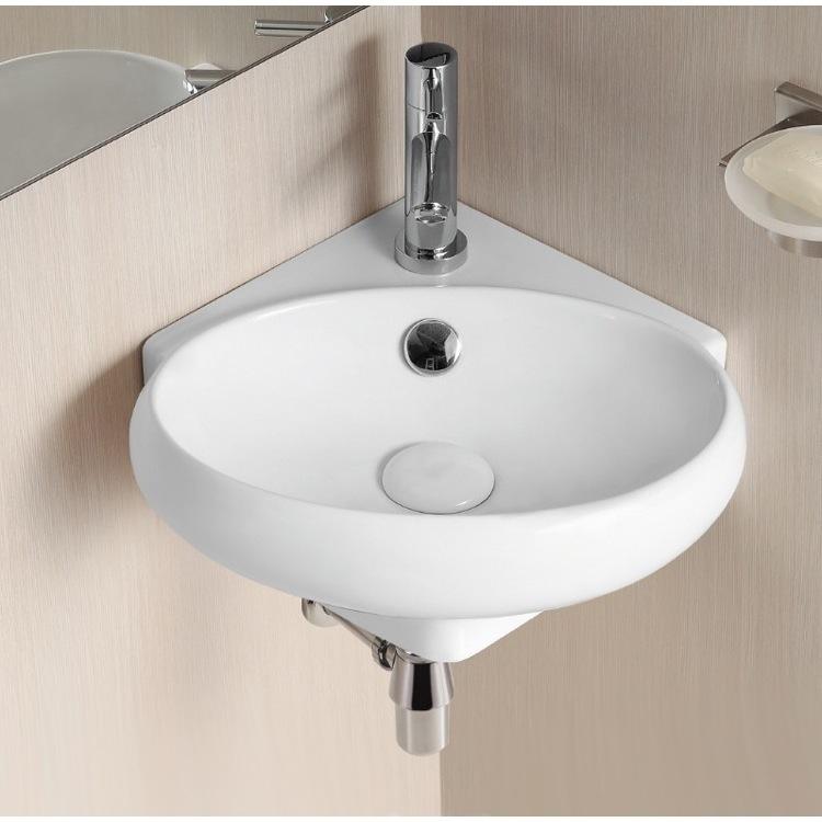 Small corner sink and corner bathroom cabinet | Bathrooms | Pinterest | Small  bathroom, Corner sink and Small corner