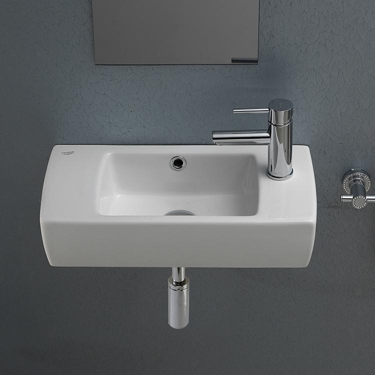Cerastyle 001500 U Bathroom Sink City, Small Rectangle Bathroom Sink