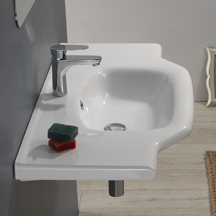 CeraStyle U Bathroom Sink Yeni Klasik Nameeks - Drop in bathroom sink installation