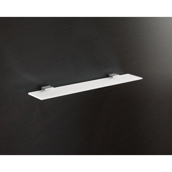 Bathroom Shelf, Gedy 5419-60-13, Square Frosted Tempered Glass Bathroom Shelf