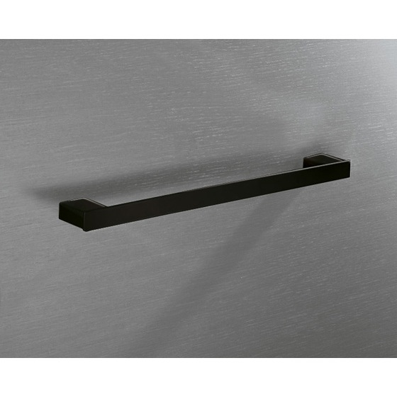 Towel Bar, Gedy 5421-45-M4, Square 18 Inch Towel Bar In Matte Black