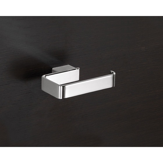 Toilet Paper Holder, Gedy 5424-13, Square Polished Chrome Toilet Roll Holder