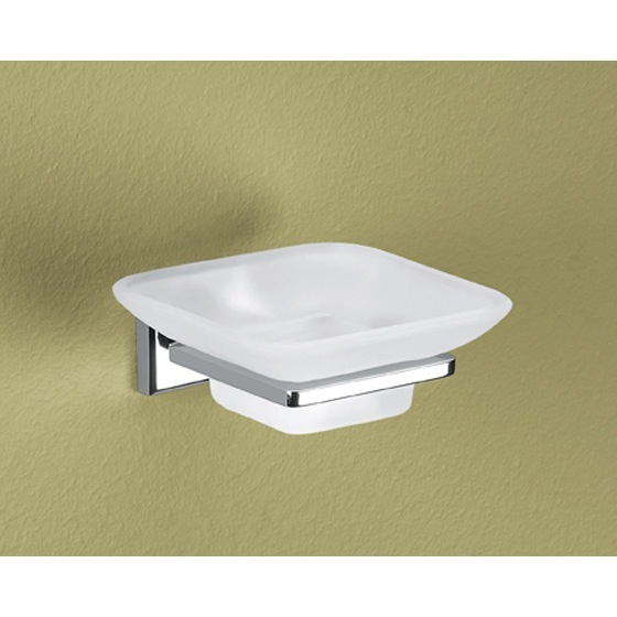 Soap Dish, Gedy 6911-13, Wall Mounted Frosted Glass Soap Dish