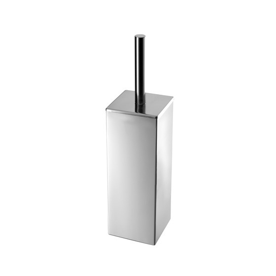 Toilet Brush, Gedy NE33-13, Square Polished Chrome Toilet Brush Holder
