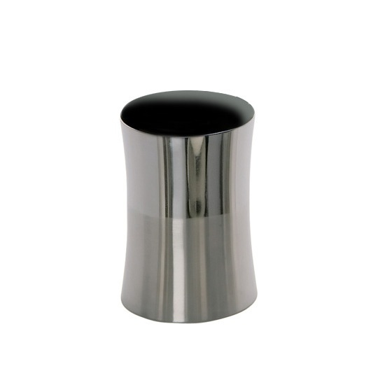Toothbrush Holder, Gedy PR98-21, Round Stainless Steel Toothbrush Holder