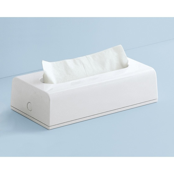 Tissue Box Cover, Gedy 2008-02, Rectangular Tissue Box Cover In White Finish