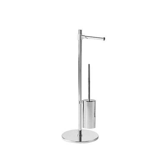 Bathroom Butler, Gedy 2132-13, Steel Floor Standing Bathroom Butler in Chrome