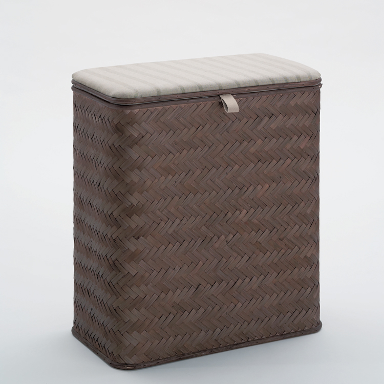 Laundry Basket, Gedy 2239-19, Rectangle Wenge Laundry Basket