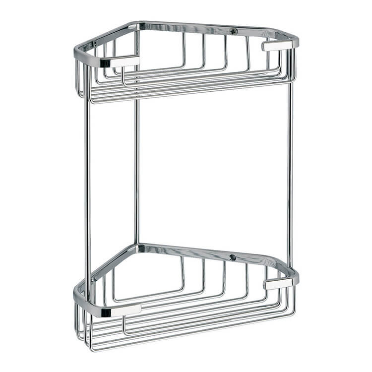 Shower Basket, Gedy 2481, Wire Corner Double Shower Basket