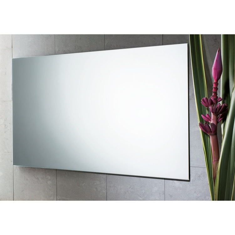 Vanity Mirror, Gedy 2551-13, 39 x 24 Inch Wall Mounted Polished Edge Vanity Mirror