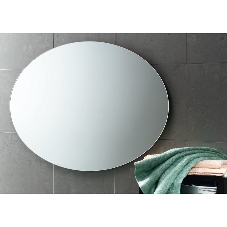 Vanity Mirror, Gedy 2575-13, 30 x 22 Inch Round Wall Mounted Vanity Mirror