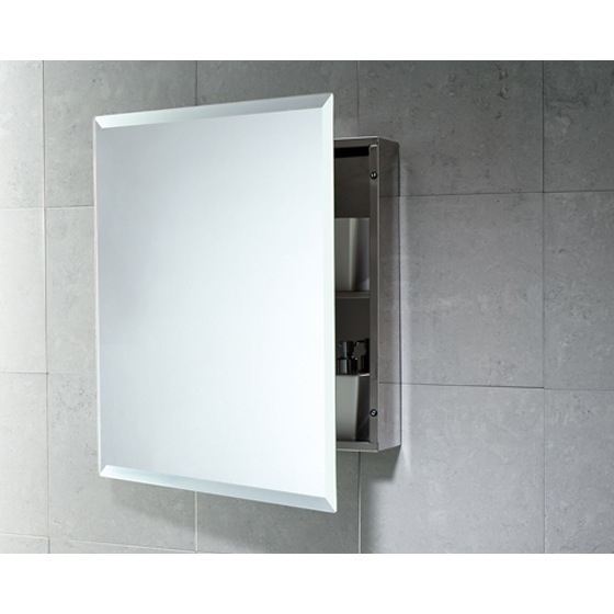 Medicine Cabinet, Gedy 2806-13, Cabinet of Stainless Steel with 1 Shelf and Mirror