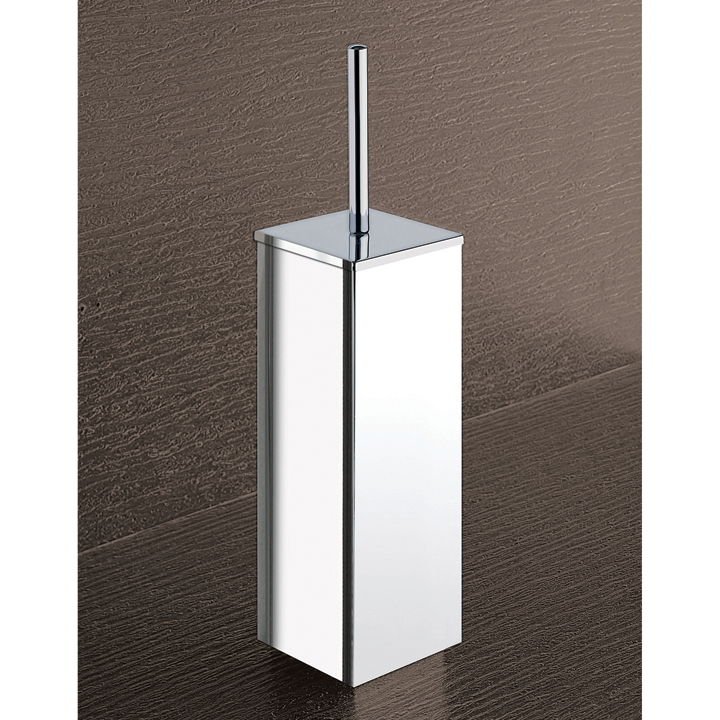 Toilet Brush, Gedy 3833-13, Square Chrome Toilet Brush Holder