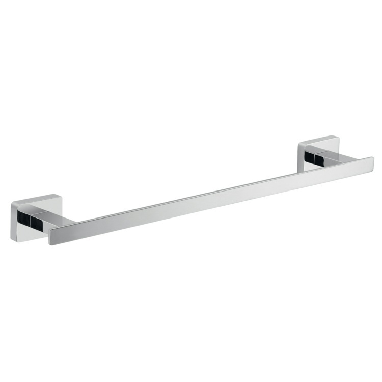 Towel Bar, Gedy 4421-30-13, 14 Inch Square Polished Chrome Towel Bar