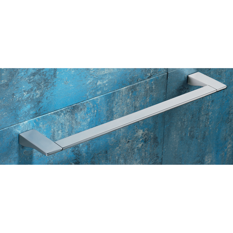 Towel Bar, Gedy 5721-60-13, Square 24 Inch Polished Chrome Towel Bar