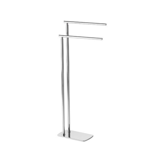 Towel Stand, Gedy 7331-13, Floor Standing Chrome Double Towel Rack