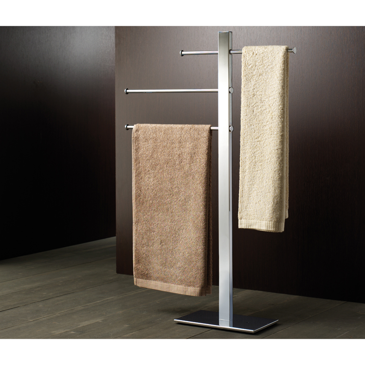 Towel Stand, Gedy 7631-13, Square Chromed Brass Towel Stand