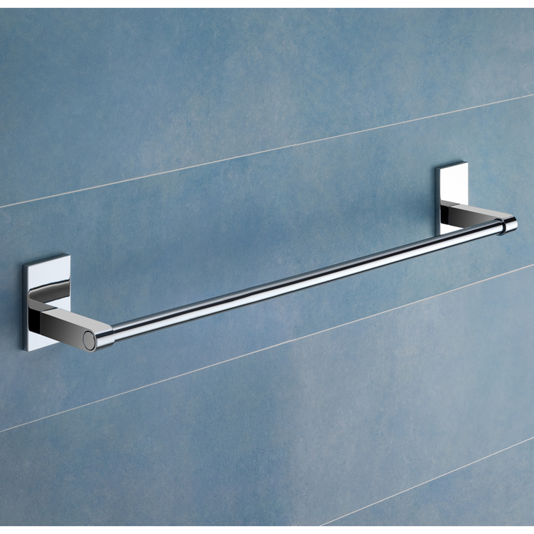 Towel Bar, Gedy 7821-60-13, 24 Inch Polished Chrome Towel Bar