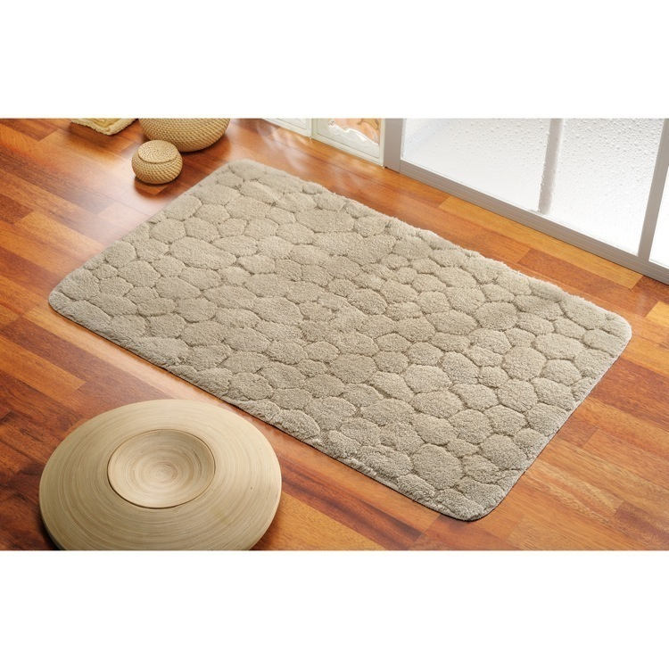 Bathroom Rug, Gedy 96-7350, 20 x 30 Inch Pebbled Bathroom Mat in Assorted Colors