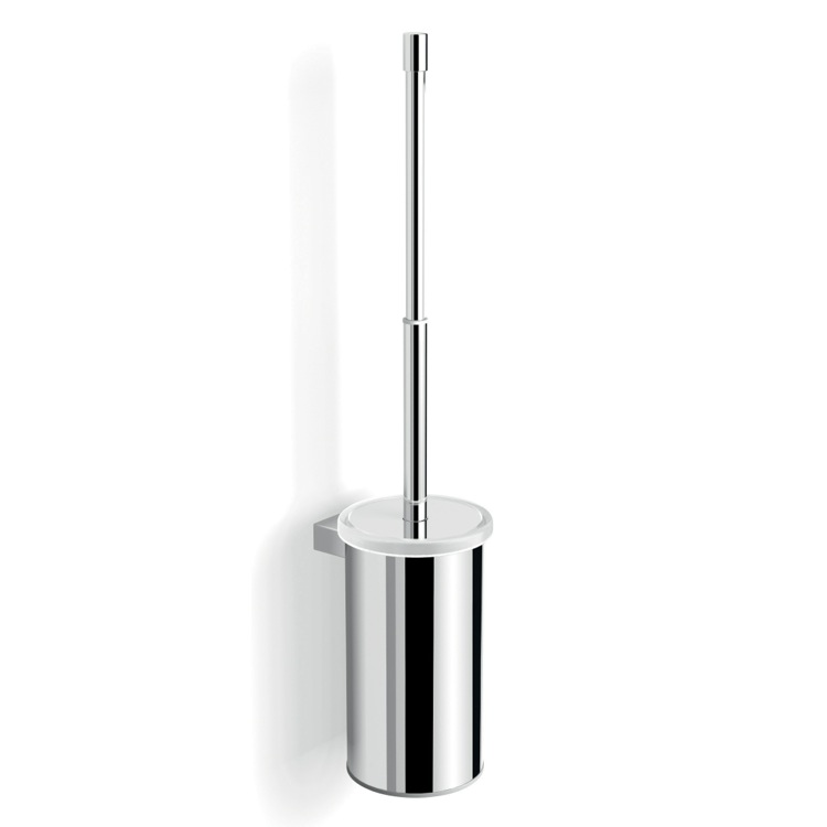 Toilet Brush, Gedy A233-03-13, Wall Mounted Chrome Toilet Brush Holder with Telescopic Handle