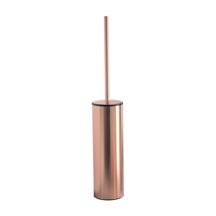 Toilet Brush, Gedy EE33-15, Rose Gold Finish Floor Standing Toilet Brush