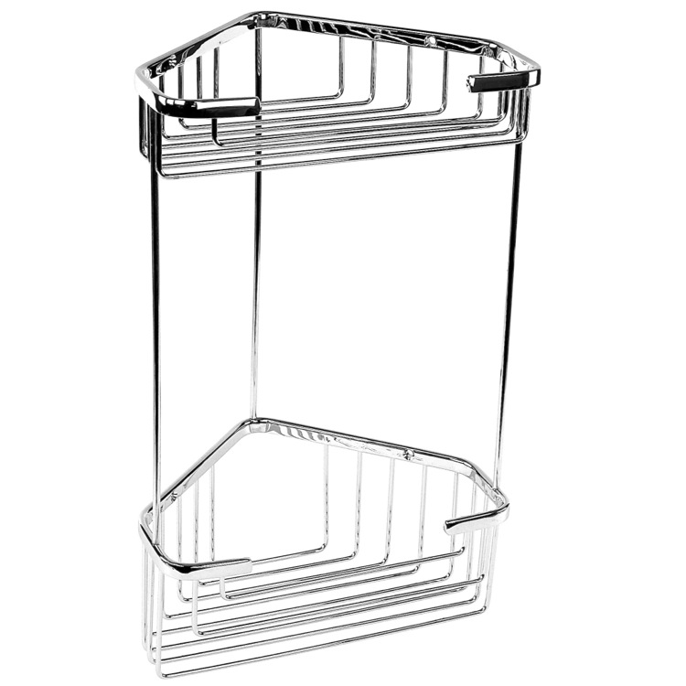 Shower Basket, Gedy 2482, Wire Corner Double Shower Basket