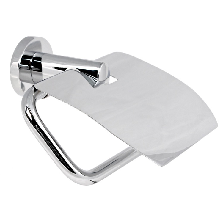 Toilet Paper Holder, Gedy 5125-13, Chrome Toilet Paper Holder With Cover