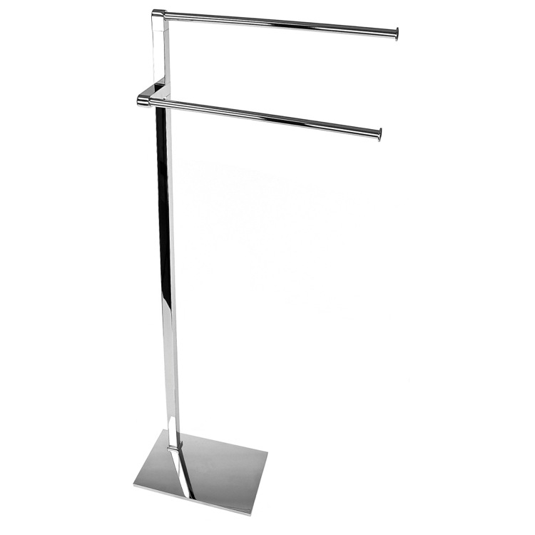Towel Stand, Gedy 7831-13, Free Standing Polished Chrome Towel Stand