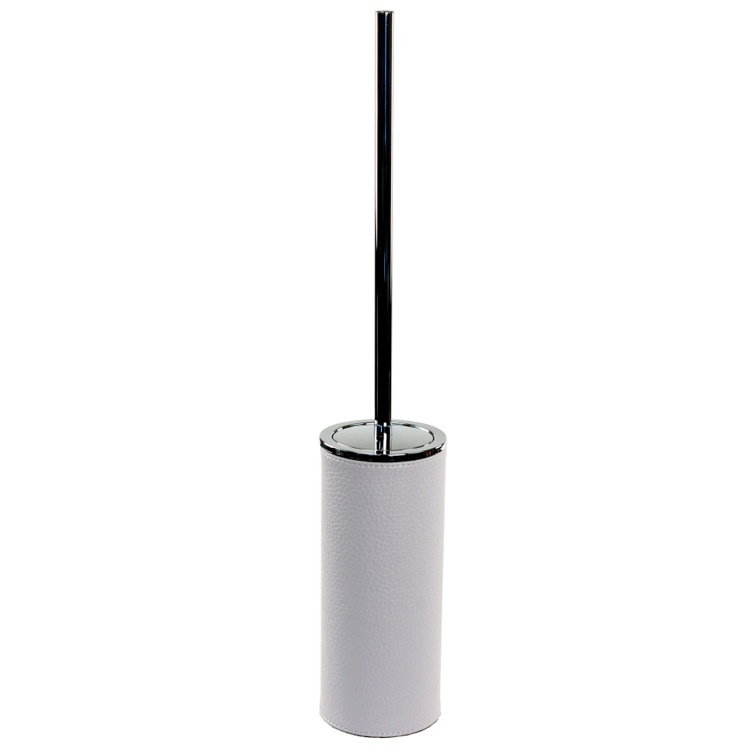 Toilet Brush, Gedy AC33, Free Standing Toilet Brush Holder Made From Faux Leather Available in Three Finishes