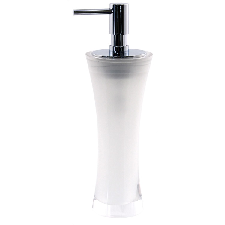 Soap Dispenser, Gedy AU80, Free Standing Soap Dispenser Made From Thermoplastic Resins in Multiple Finishes