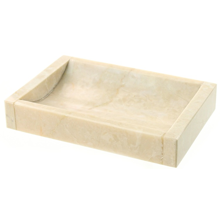 Soap Dish, Gedy EU11-03, Rectangular Beige Soap Dish Made from Marble