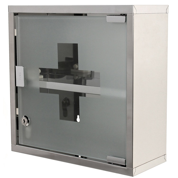 Medicine Cabinet, Gedy J035-13, Stainless Steel Medicine Cabinet Finished in Polished Chrome