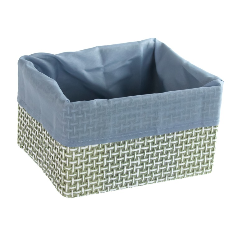 Storage Basket, Gedy LA07, Square Storage Basket in Grey or Moka
