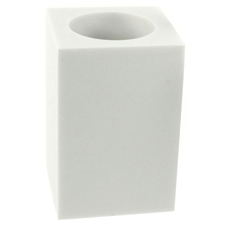 Toothbrush Holder, Gedy OL98, Square Free Standing Toothbrush Tumbler Available in Multiple Finishes
