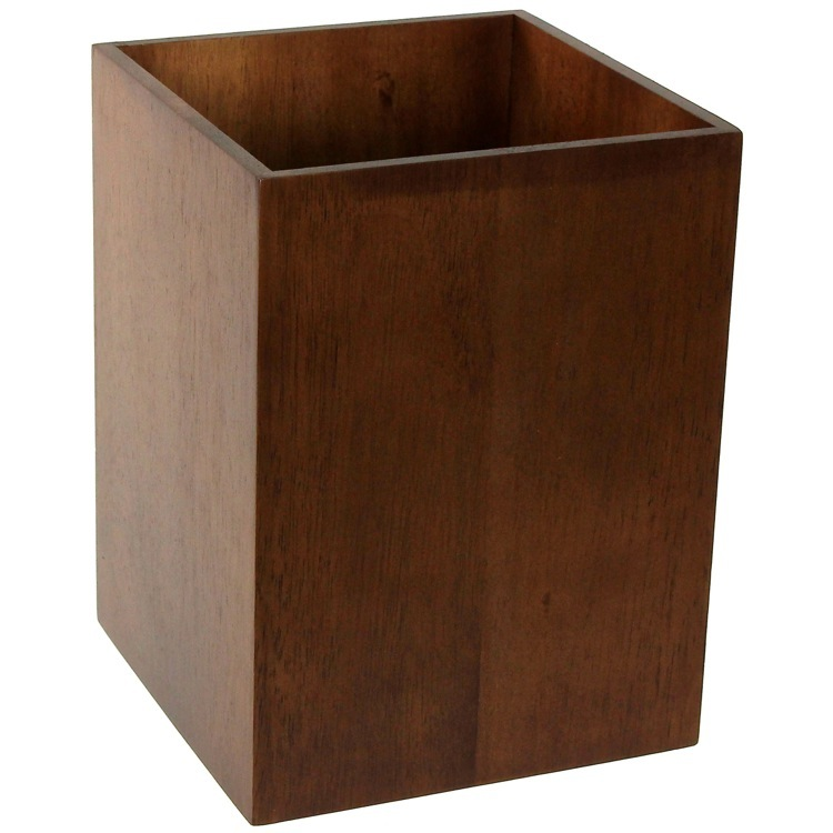 Waste Basket, Gedy PA09, Waste Basket Made From Wood Available in Multiple Finishes