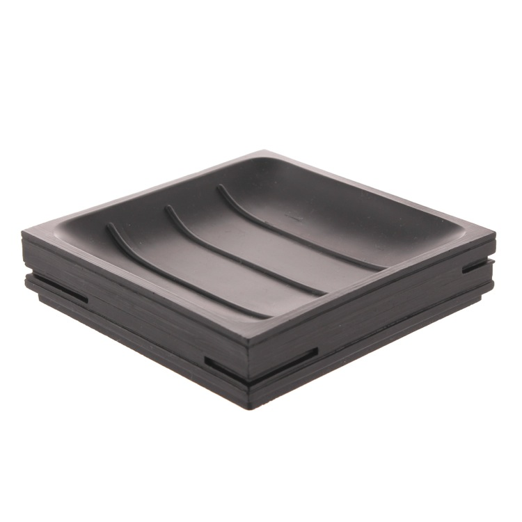Soap Dish, Gedy QU11-14, Square Black Soap Holder