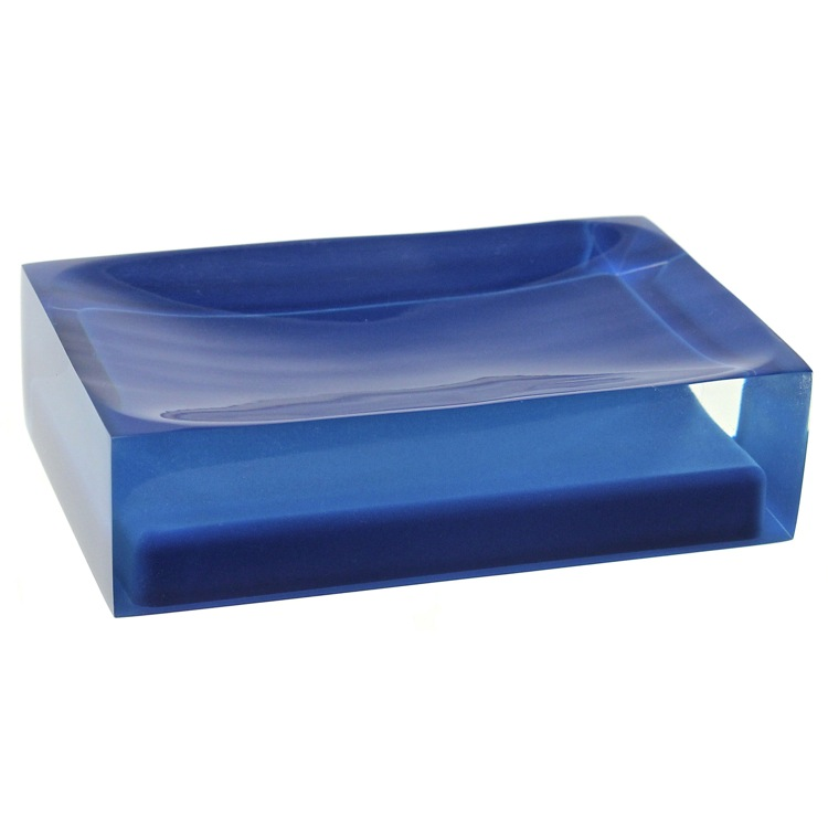 Soap Dish, Gedy RA11-05, Decorative Blue Soap Holder