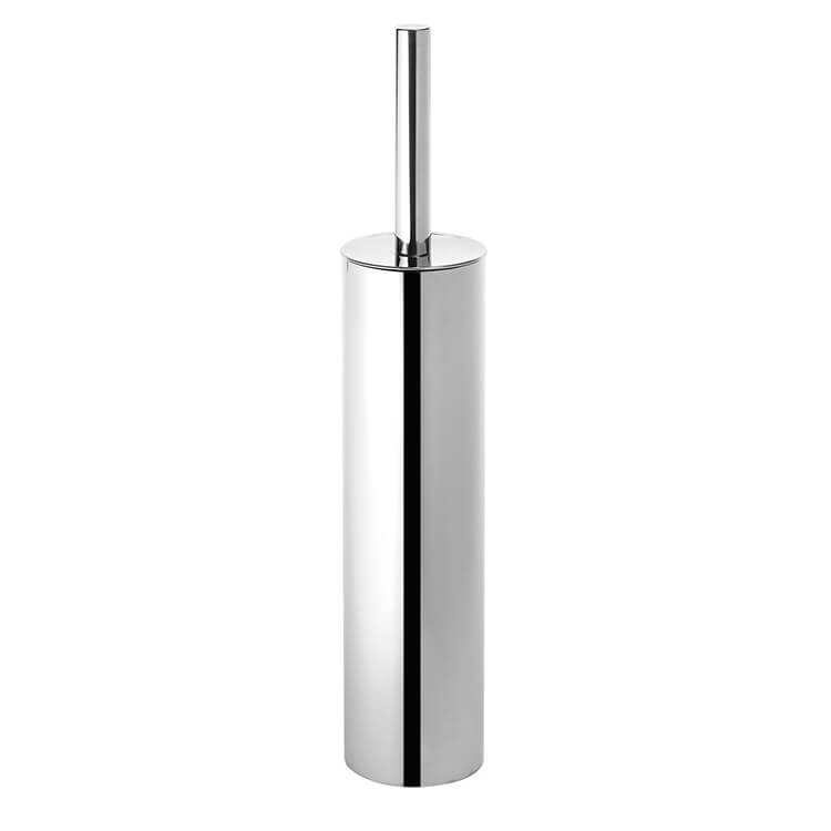 Toilet Brush, Gedy ED34-13, Round Polished Chrome Toilet Brush Holder