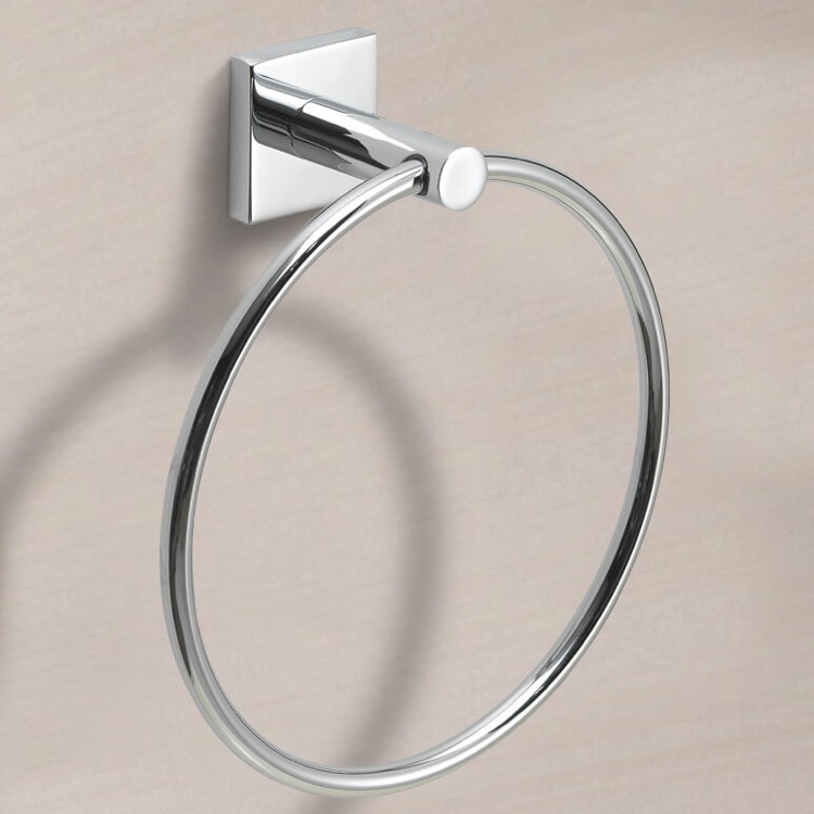 Towel Ring, Gedy FJ70-13, Modern Round Chrome Towel Ring