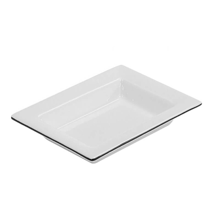 Soap Dish, Gedy LC11-02, White Pottery Free Standing Soap Dish