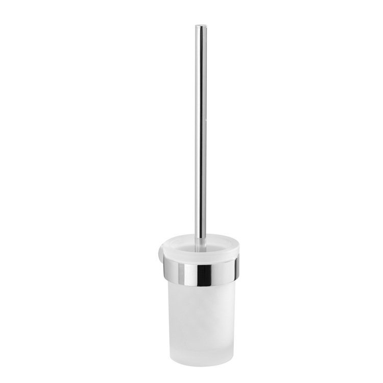 Toilet Brush, Gedy PI33-03-13, Wall Mounted Frosted Glass Toilet Brush