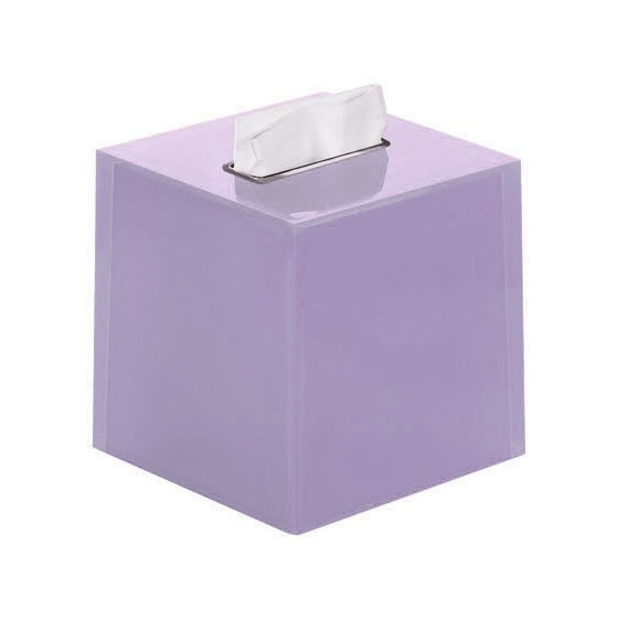 Tissue Box Cover, Gedy RA02-79, Thermoplastic Resin Square Tissue Box Cover in Lilac Finish
