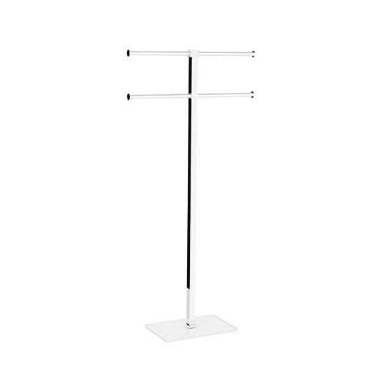 Towel Stand, Gedy RA31-02, White Floor Standing Towel Rack of Resin and Steel