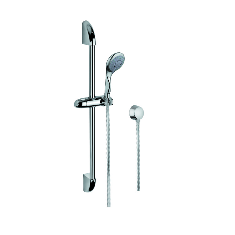 Handheld Showerhead, Gedy SUP1046, Shower Solution with Chromed Hand Shower, Sliding Rail and Water Connection