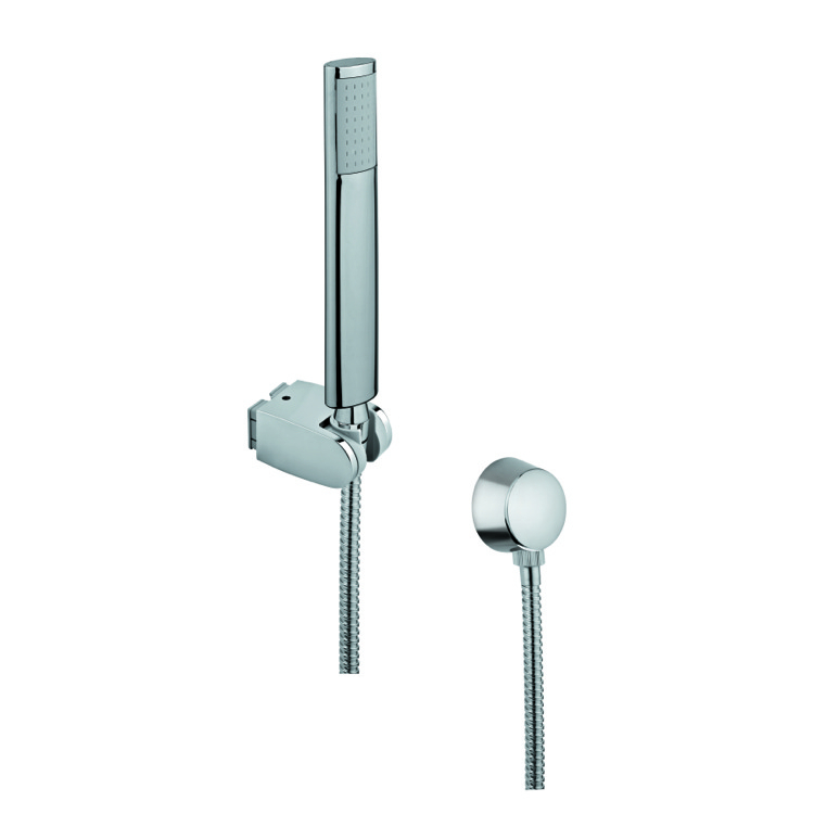 Handheld Showerhead, Gedy SUP1058, Chrome Hand Shower with Hose and Brass Water Connection