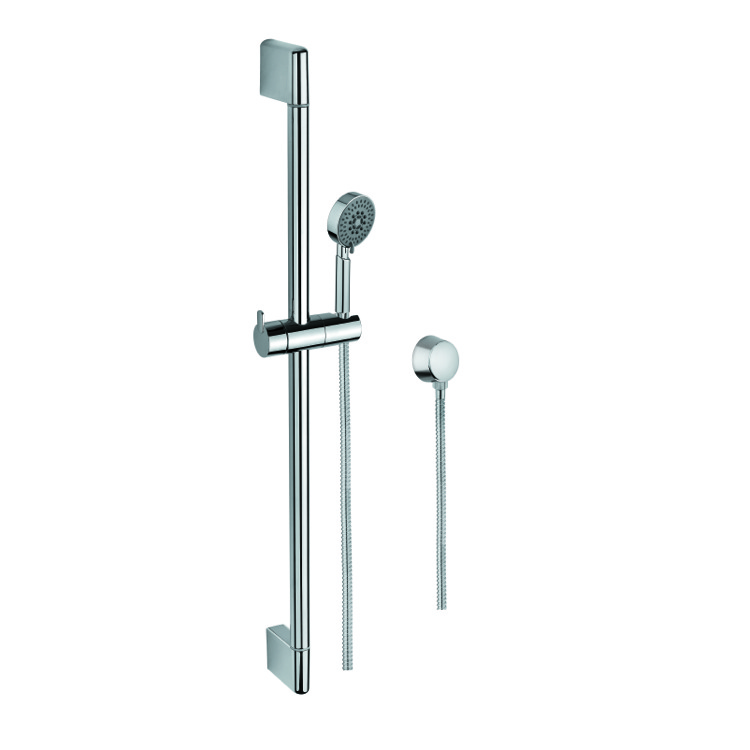 Handheld Showerhead, Gedy SUP1096, Hand Shower, Sliding Rail and Water Connection In Chrome