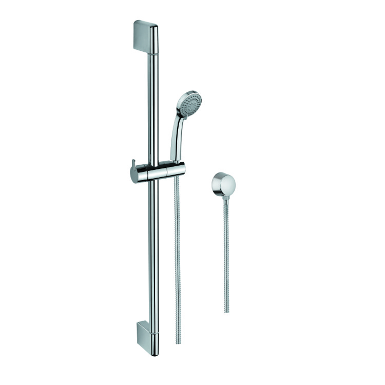 Handheld Showerhead, Gedy SUP1107, Polished Chrome Hand Shower, Water Connection, and Sliding Rail