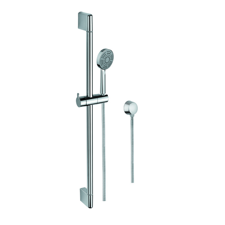Handheld Showerhead, Gedy SUP1108, Chrome Hand Shower, Water Connection, and Sliding Rail