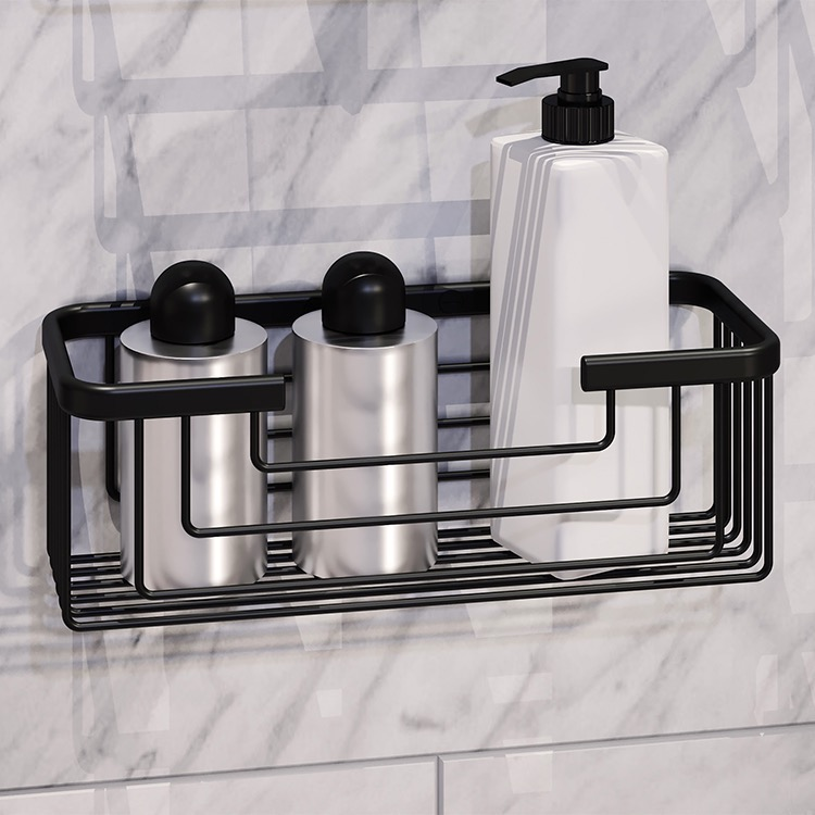 Shower Basket, Gedy 2419-14, Matte Black Shower Basket