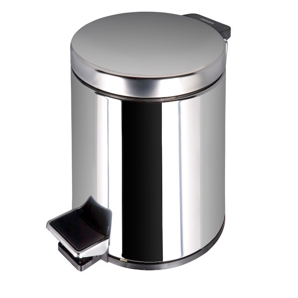 Waste Basket, Geesa 626-C, Stainless Steel Bathroom Pedal Waste Bin